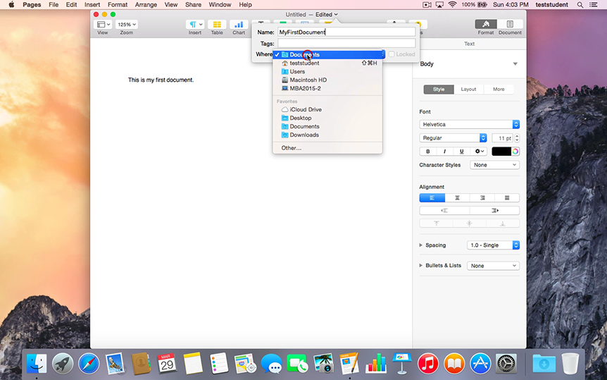 Yosemite-CreatingFilesandFolder-Screnshot